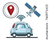 car gps   tracker  technology | Shutterstock .eps vector #760971415
