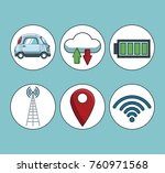 car gps   tracker  technology | Shutterstock .eps vector #760971568