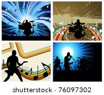rock group set. vector... | Shutterstock .eps vector #76097302