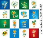 logo of fresh juice | Shutterstock .eps vector #760983736
