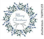 a decorated christmas christmas ... | Shutterstock .eps vector #760991155