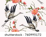 colorful floral seamless... | Shutterstock .eps vector #760995172