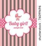 girl arrival card | Shutterstock .eps vector #76099696