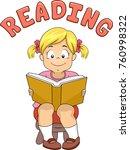 illustration of a kid girl... | Shutterstock .eps vector #760998322
