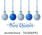 blue christmas balls for your... | Shutterstock .eps vector #761006992