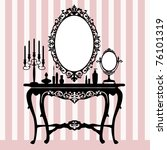 retro dressing console ... | Shutterstock .eps vector #76101319