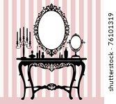 retro dressing console ...   Shutterstock .eps vector #76101319
