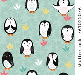 vector seamless pattern with... | Shutterstock .eps vector #761025076