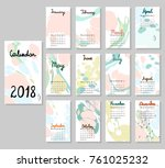 hand drawing vector calendar... | Shutterstock .eps vector #761025232