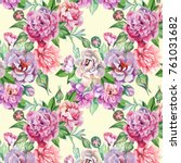 watercolor pattern with... | Shutterstock . vector #761031682