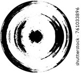 grunge black and white circle... | Shutterstock .eps vector #761033896