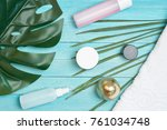 products for personal care ... | Shutterstock . vector #761034748