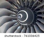 turbine from aircraft jet engine | Shutterstock . vector #761036425