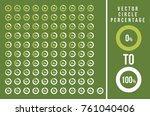 set of circle percentage... | Shutterstock .eps vector #761040406