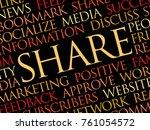share word cloud  concept... | Shutterstock . vector #761054572