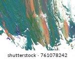 colorful oil art stroke design... | Shutterstock . vector #761078242