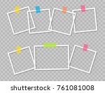 set of photo frames with... | Shutterstock .eps vector #761081008