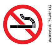 prohibition sign no smoking | Shutterstock .eps vector #761084662
