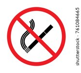 prohibition sign no smoking | Shutterstock .eps vector #761084665