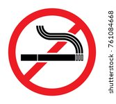 prohibition sign no smoking | Shutterstock .eps vector #761084668