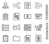 thin line icon set   share ...   Shutterstock .eps vector #761085265