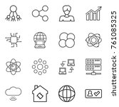 thin line icon set   share ... | Shutterstock .eps vector #761085325