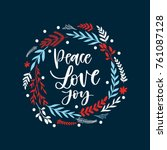vector hand written christmas... | Shutterstock .eps vector #761087128