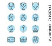 vector award icons set in... | Shutterstock .eps vector #761087665