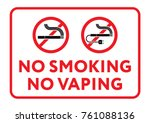 prohibition sign no smoking  no ... | Shutterstock .eps vector #761088136