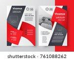 business brochure design... | Shutterstock .eps vector #761088262