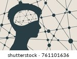 silhouette of a woman's head.... | Shutterstock . vector #761101636