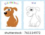 coloring book page for... | Shutterstock .eps vector #761114572