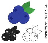 blueberry icon in three... | Shutterstock .eps vector #761115268
