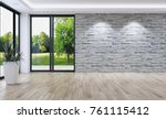 modern bright interiors empty... | Shutterstock . vector #761115412