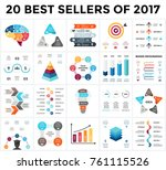 vector infographics set. 20... | Shutterstock .eps vector #761115526