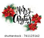 merry christmas vector... | Shutterstock .eps vector #761125162