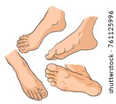 set the foot in different... | Shutterstock .eps vector #761125996