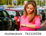 unhappy and upset young... | Shutterstock . vector #761126536