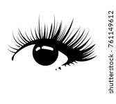 logo of eyelashes. stylized... | Shutterstock .eps vector #761149612