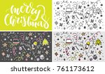 christmas greeting   vector... | Shutterstock .eps vector #761173612