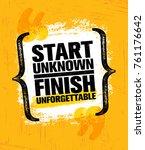 start unknown finish... | Shutterstock .eps vector #761176642