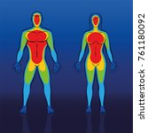 body warmth thermogram of male... | Shutterstock .eps vector #761180092