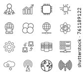 thin line icon set   share ... | Shutterstock .eps vector #761189122
