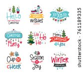 vector poster collection with... | Shutterstock .eps vector #761189335