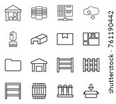 thin line icon set   warehouse  ... | Shutterstock .eps vector #761190442