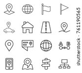 thin line icon set   pointer ... | Shutterstock .eps vector #761190565
