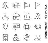 thin line icon set   pointer ... | Shutterstock .eps vector #761190565