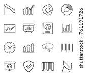 thin line icon set   crisis ...   Shutterstock .eps vector #761191726