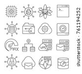 network and server icons | Shutterstock .eps vector #761194252