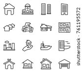 thin line icon set   home ... | Shutterstock .eps vector #761195572